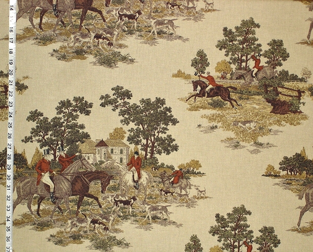 Horse Jumping Fabric