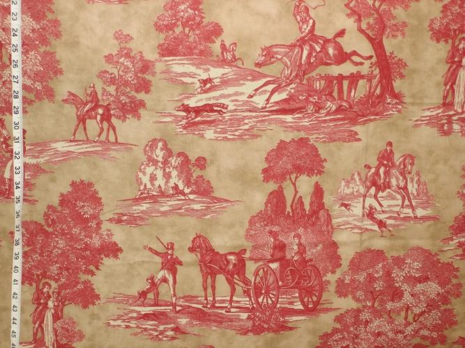 Laura Ashley Equestrian Toile Fabric