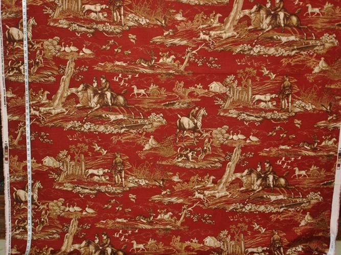 P.Kaufmann Horse Hunt Fabric