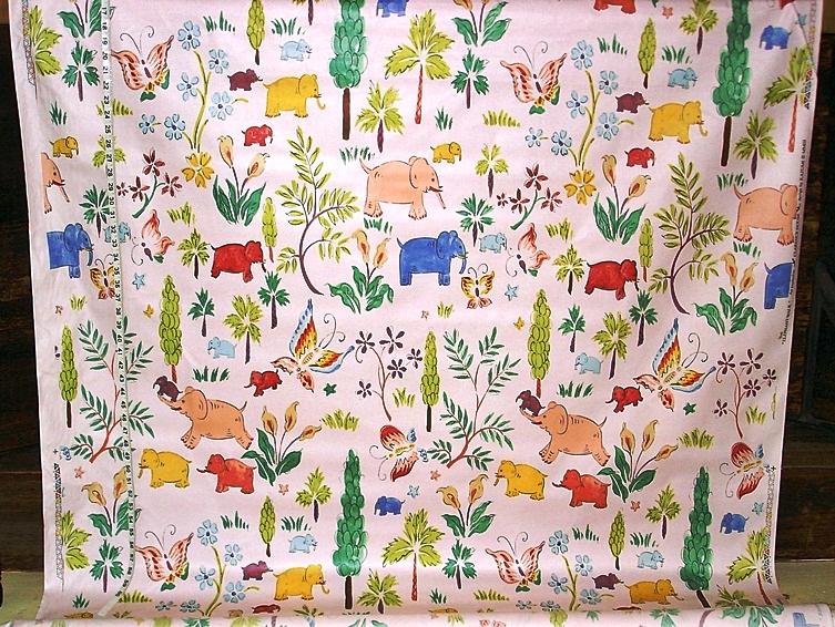 CLARENCE HOUSE ELEPHANT FABRIC