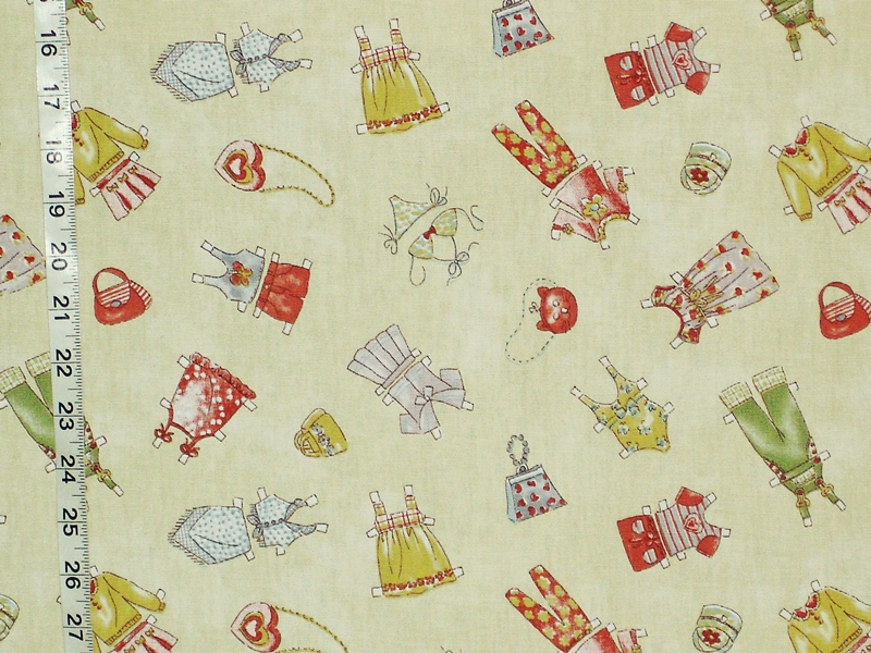 PAPER DOLL CLOTHES FABRIC