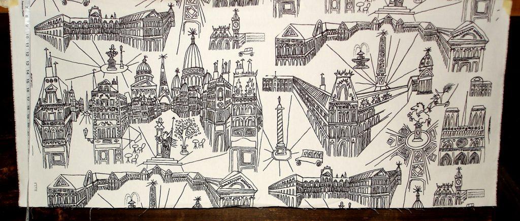 SAUL STEINBERG VIEW of PARIS