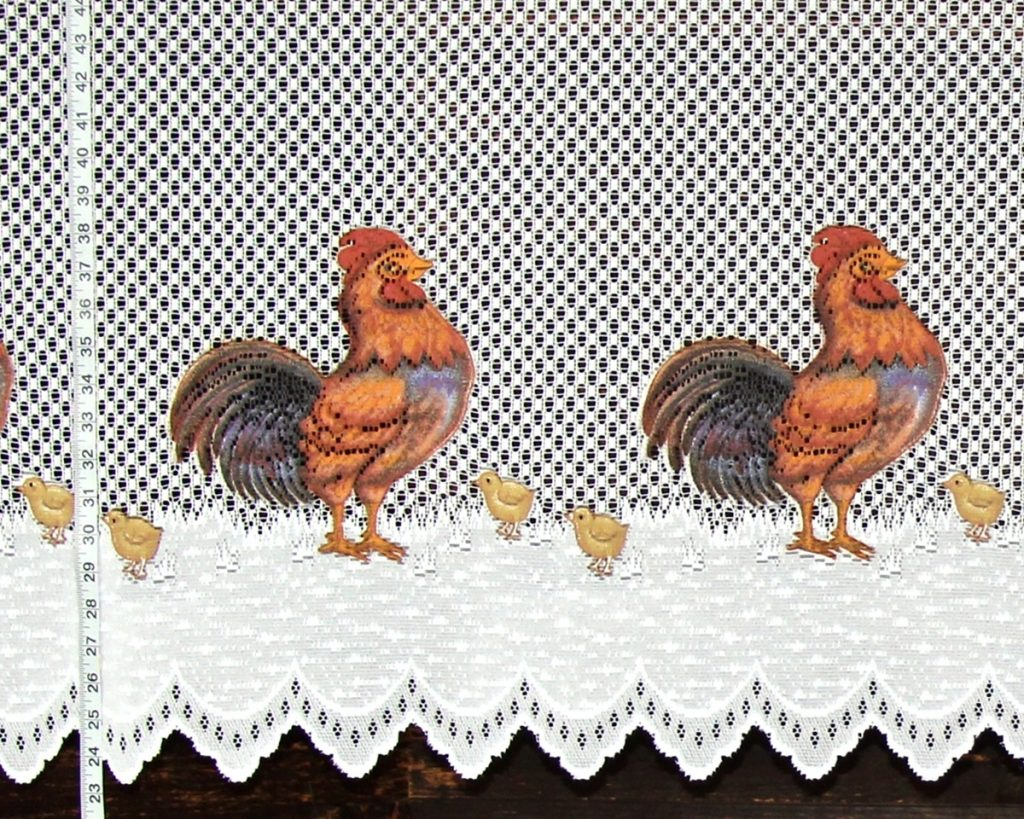 LACE ROOSTER CHICK FABRIC