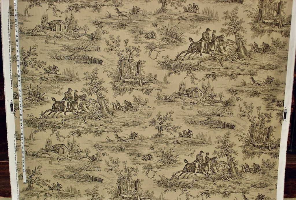 BROWN EQUESTRIAN TOILE FABRIC