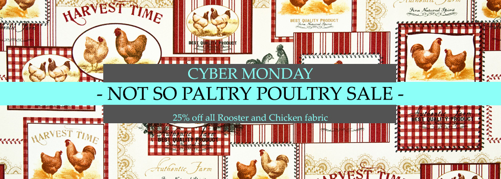 Cyber Monday Chicken Rooster and Peacock Sale