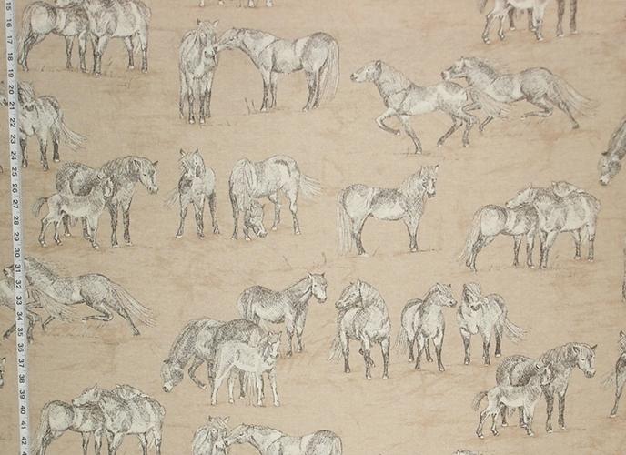 Horse Toile Fabric