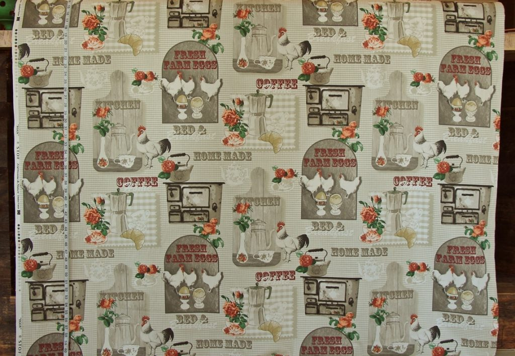 BREAKFAST CHICKEN FABRIC
