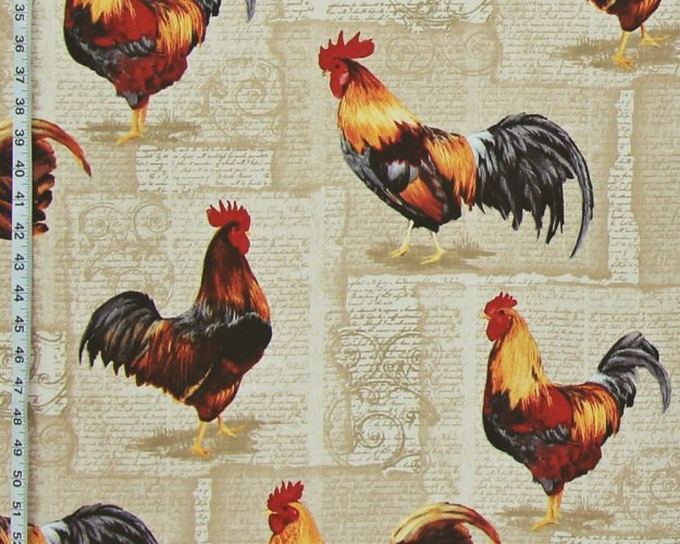 ROOSTER FABRIC FRENCH LETTERS