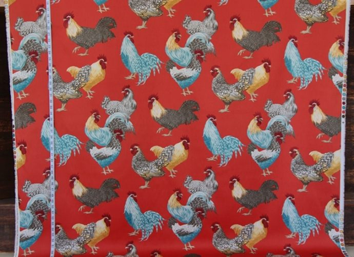 Rooster Chicken Toile Fabric Brickhouse Fabrics