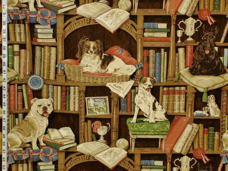 DOG LIBRARY FABRIC