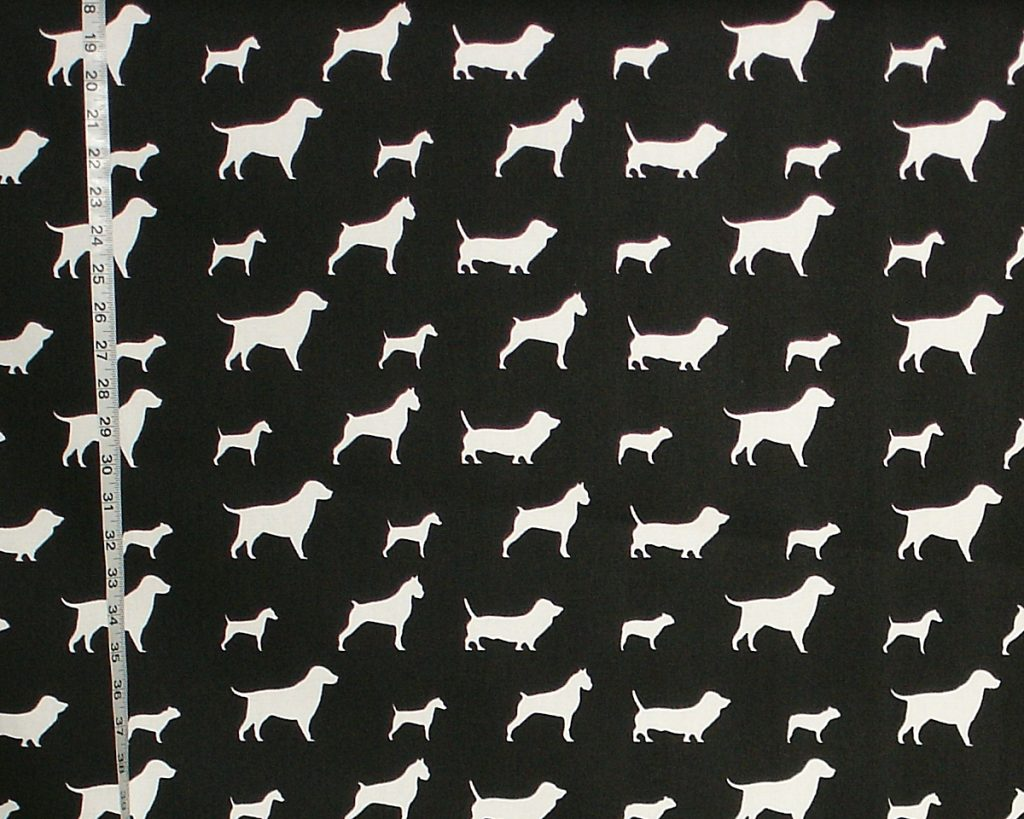 DOG SILHOUETTE FABRIC