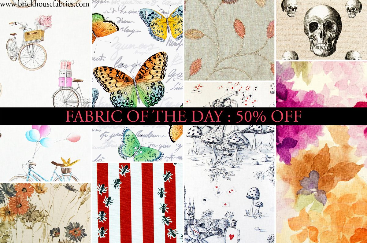 FABRIC OF THE DAY: 50% Off SALE Discount