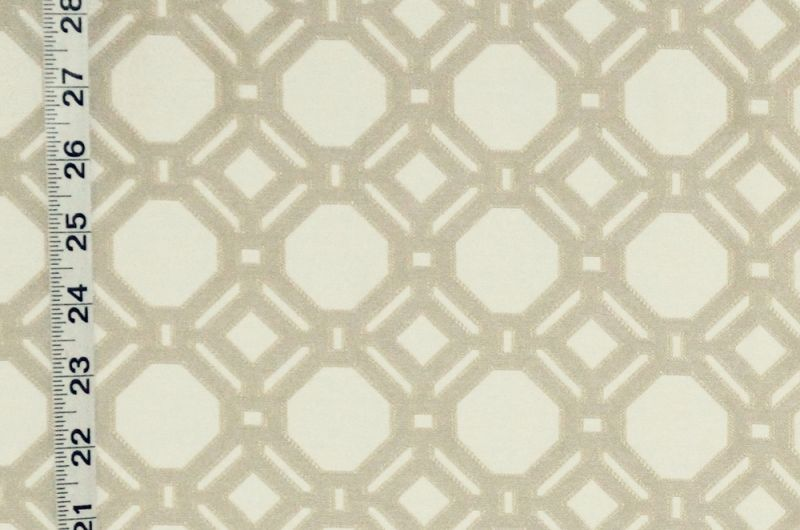 Reversible beige lattice fabric