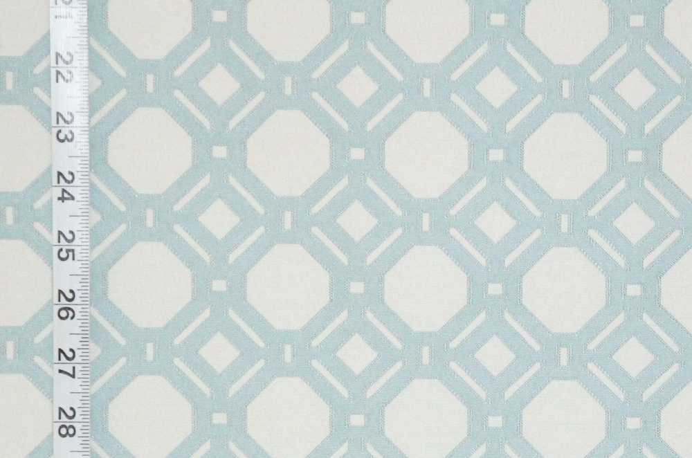Reversible pastel blue lattice fabric