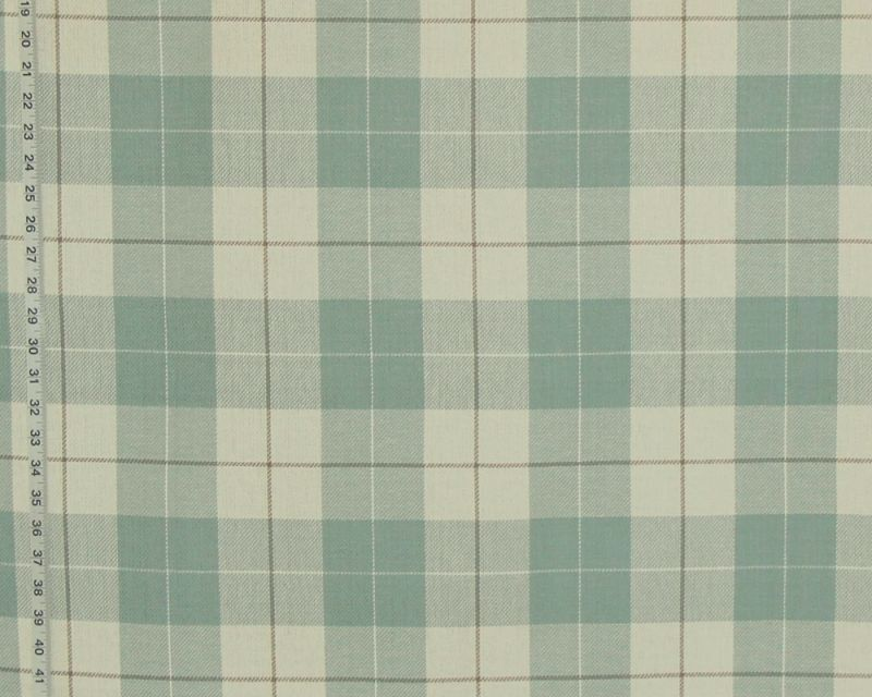 Seaglass blue plaid fabric