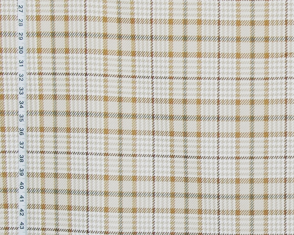 Neutral houndstooth plaid fabric
