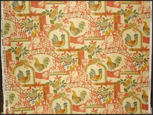 P.KAUFMANN'S VINTAGE RETRO CHICKEN FABRIC
