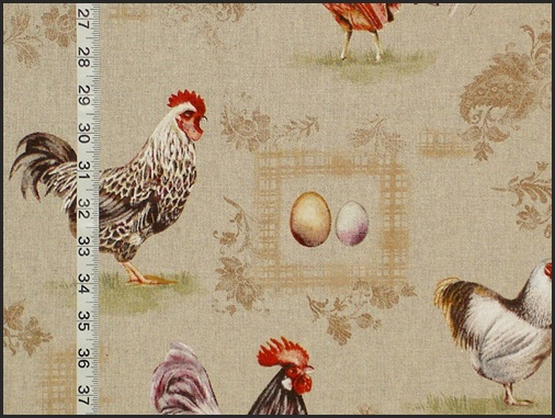 FRENCH ROOSTER and EGG FABRIC