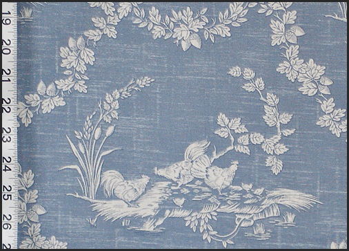 PIERRE DEUX ROOSTER CHICKEN TOILE FABRIC