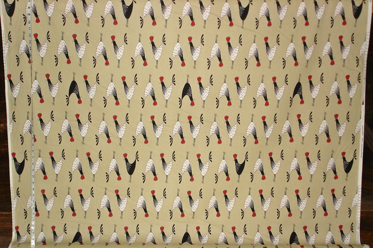 PREMIER FABRICS FUNKY ROOSTER FABRIC