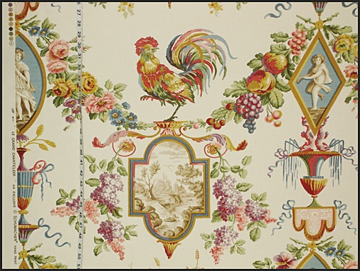SCHUMACHER ROOSTER TOILE FABRIC
