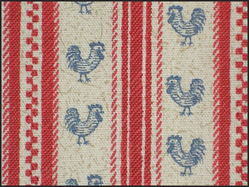 COVINGTON'S CHICKEN TICKING STRIPE FABRIC