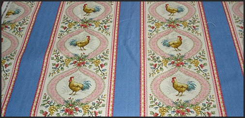 French Provence Rooster Fabric