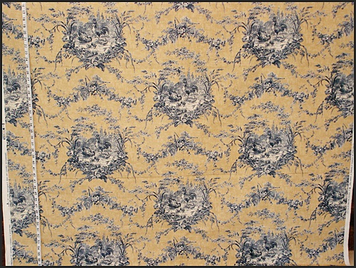 WAVERLY'S ROOSTER TOILE FABRIC