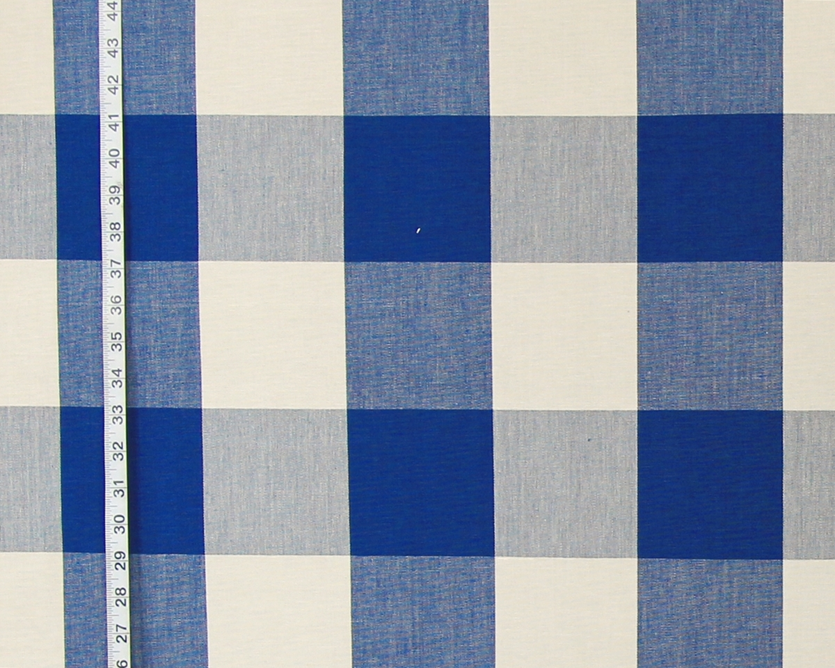 BLUE BUFFALO CHECK FABRIC