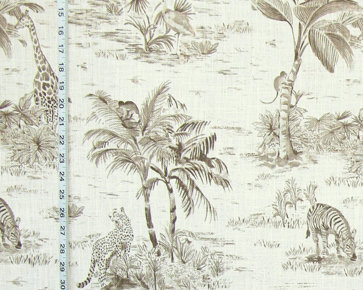 AFRICAN ANIMAL TOILE FABRIC