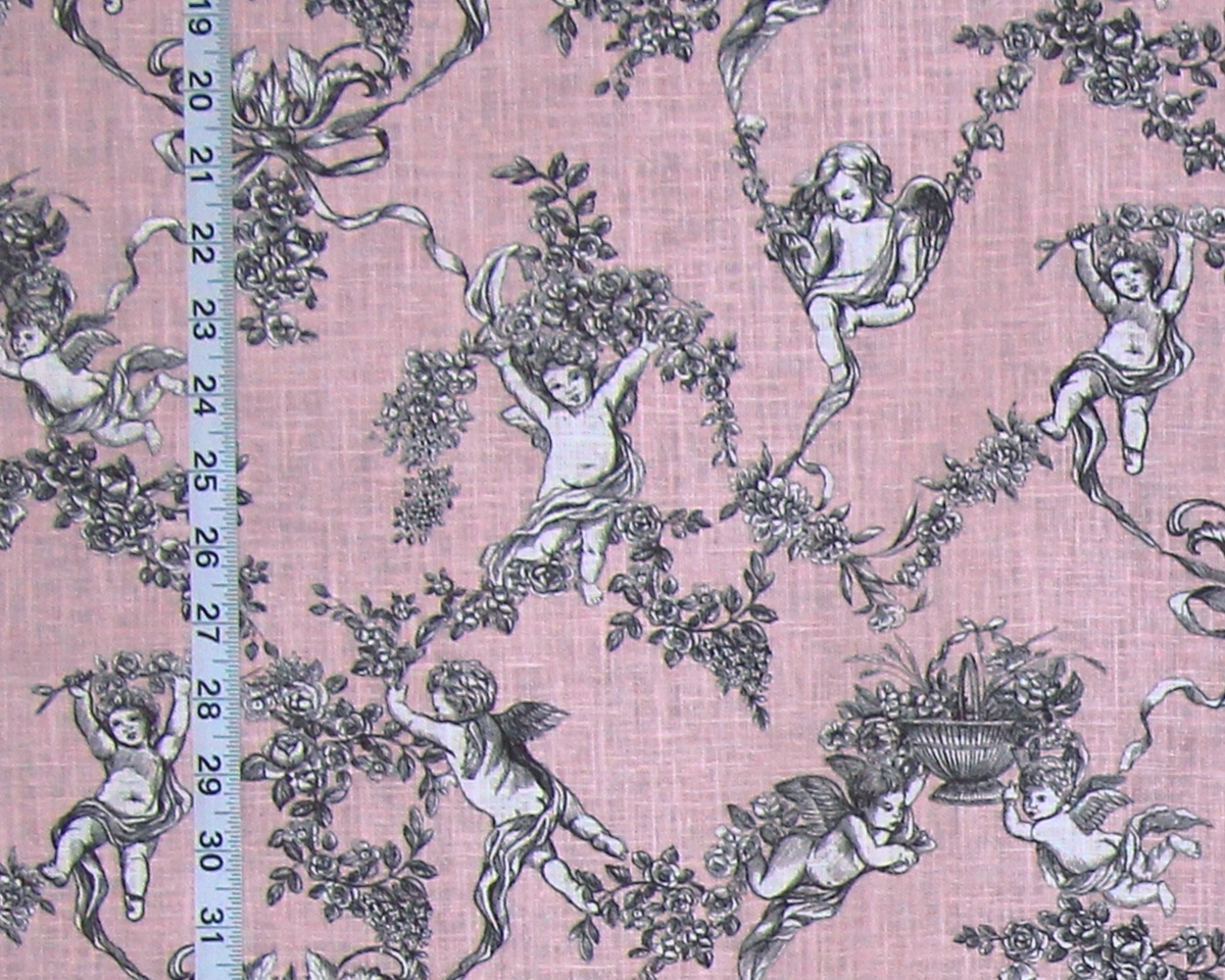 PINK ANGEL TOILE FABRIC