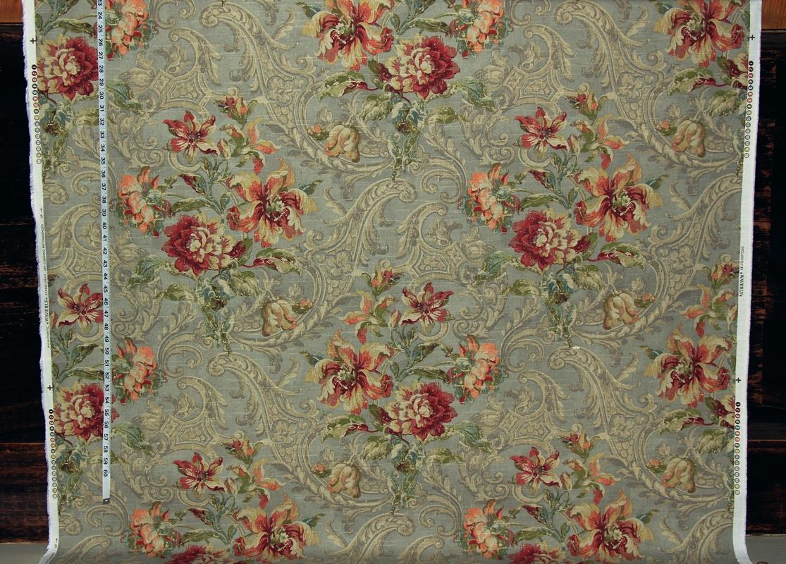 POLLYANNA - BLUE FLORAL COTTON FABRIC per m SHABBY VINTAGE ... |Vintage Floral Fabric