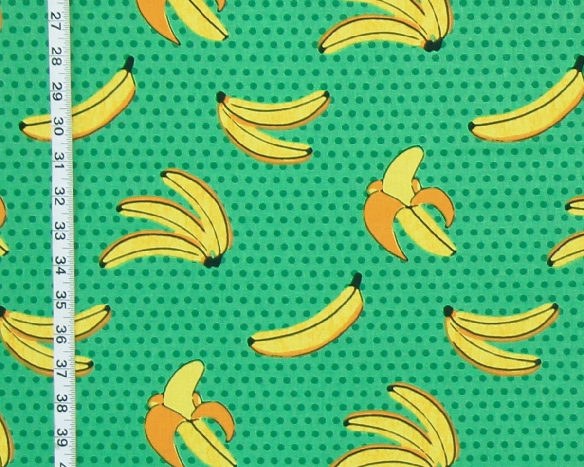 RETRO GREEN BANANA FABRIC