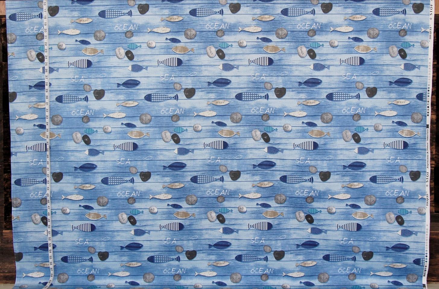 Beach Fabric Mid Century Fabric Fish Fabrics
