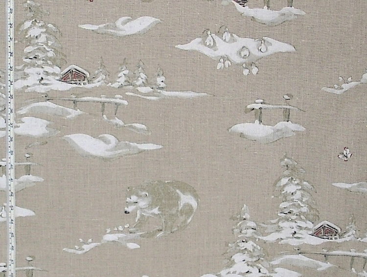 POLAR BEAR FABRIC on LINEN