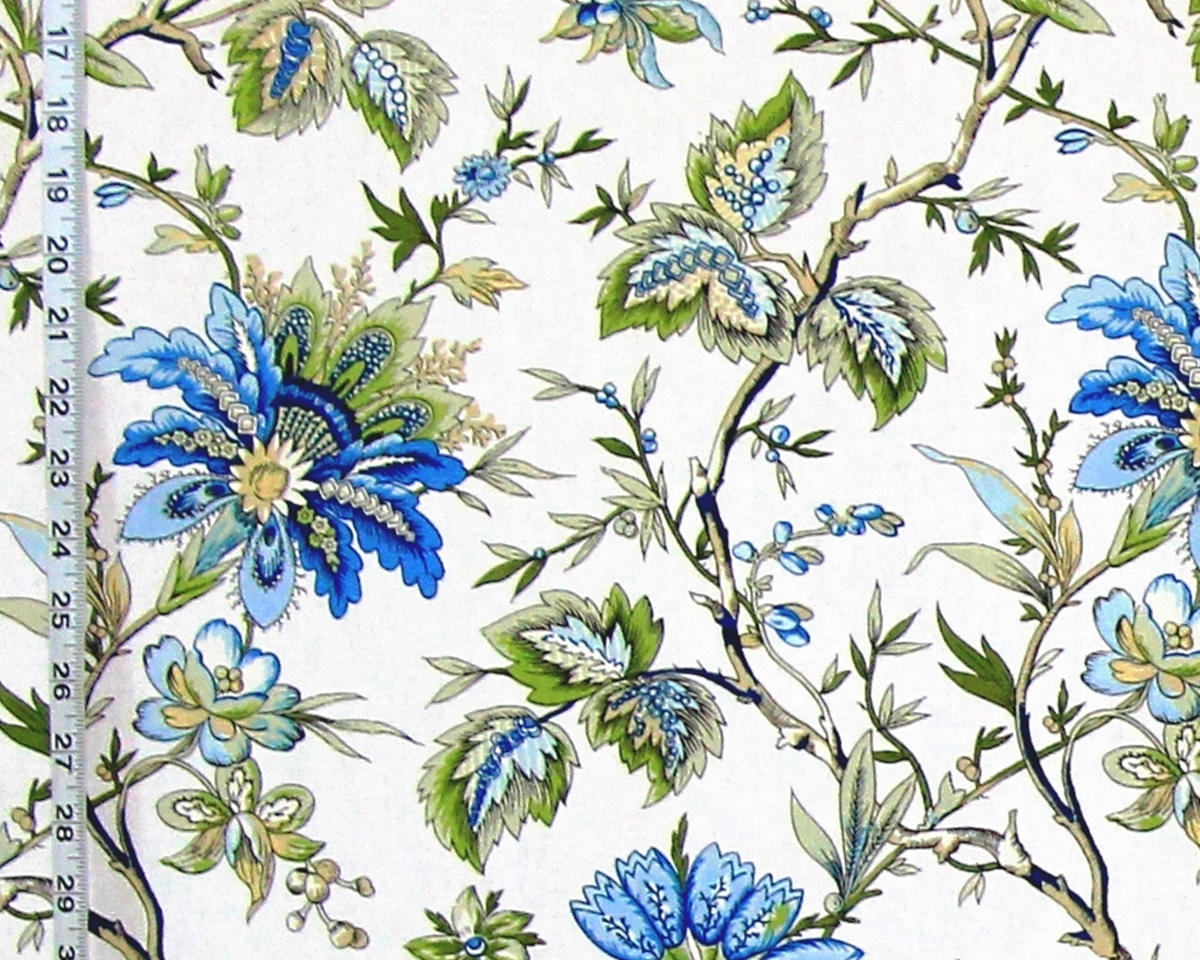 BLUE PROVENCE FLORAL FABRIC