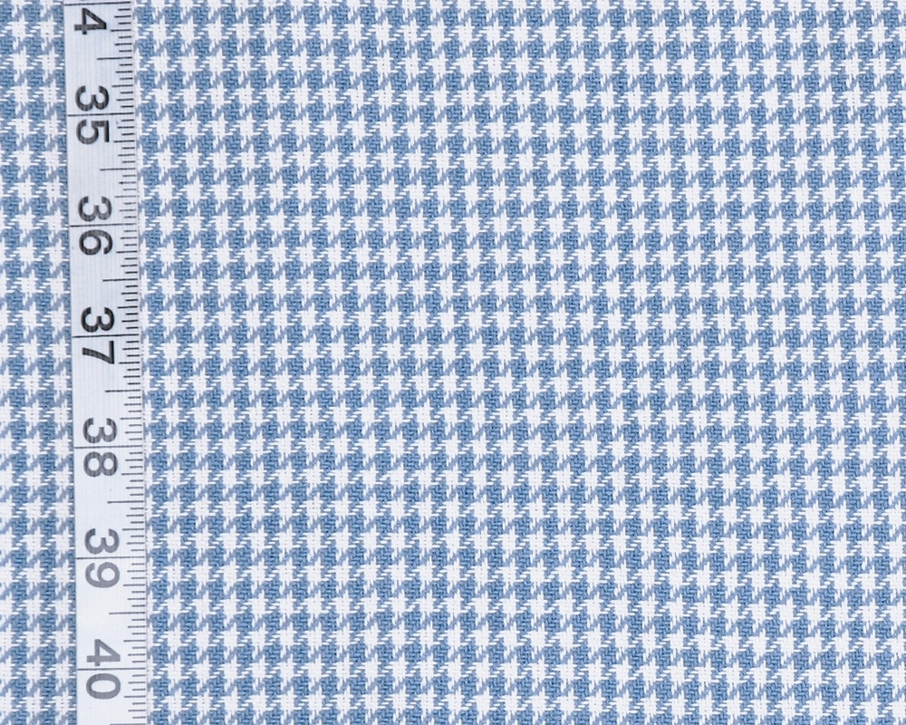 Small Blue Houndstooth Check Fabric