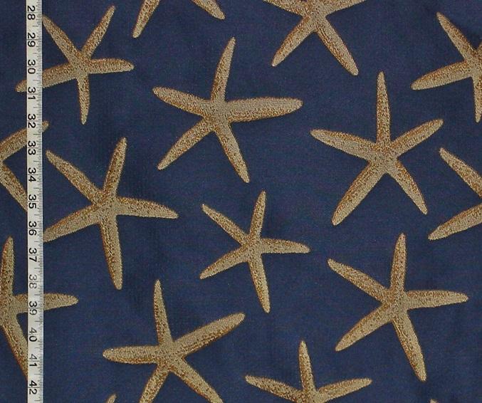 BLUE STARFISH FABRIC