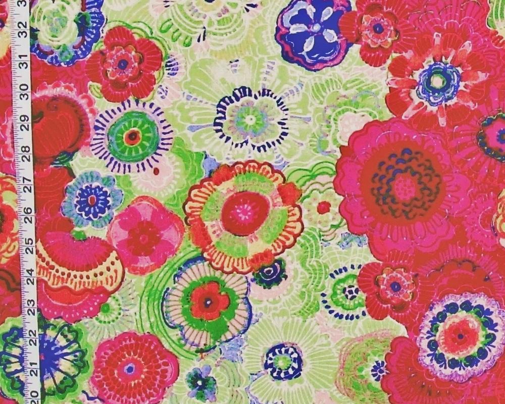 Retro boho floral fabrics new brickhouse fabrics for Retro fabric