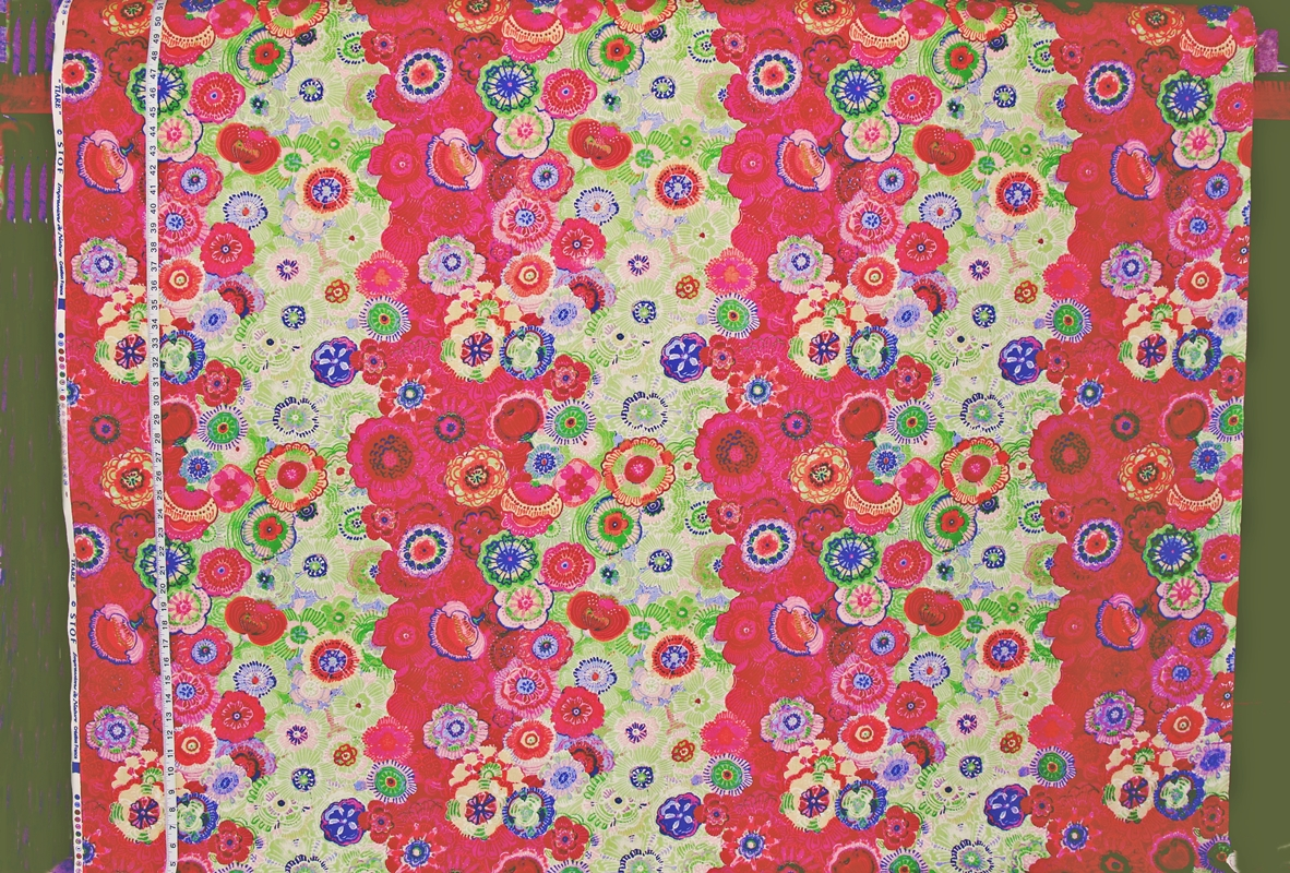 BOHO FLORAL FABRIC IN RED, PINK, and PURPLE