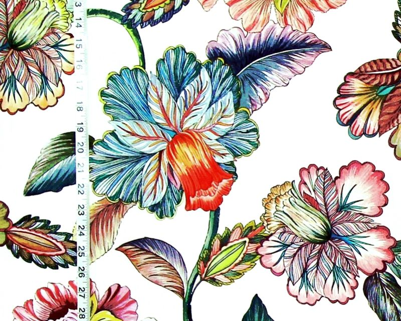 BOLD TROPICAL FLORAL FABRIC