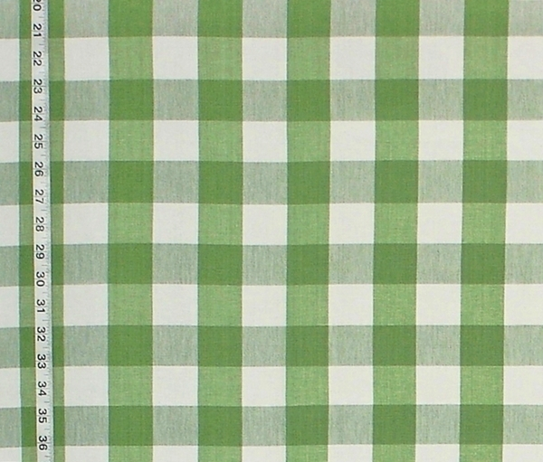 LIME GREEN BUFFALO CHECK FABRIC