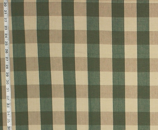 OLIVE GREEN PLAID CHECK FABRIC