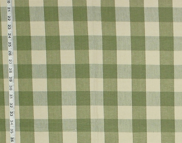 SAGE GREEN BUFFALO CHECK FABRIC