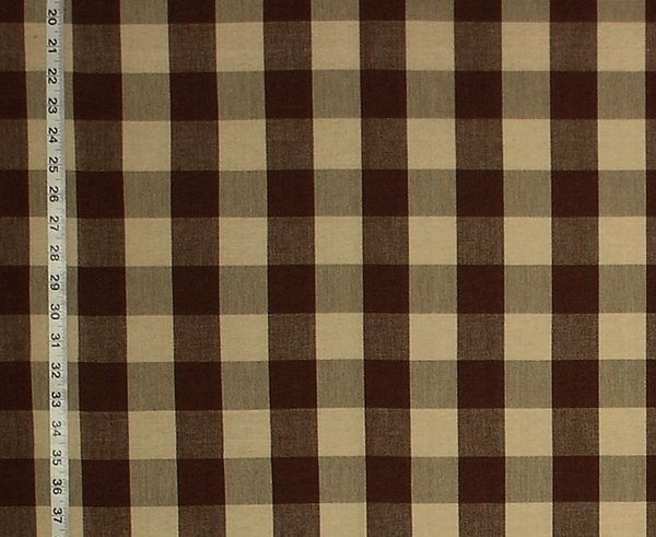 DARK BROWN BUFFALO CHECK FABRIC