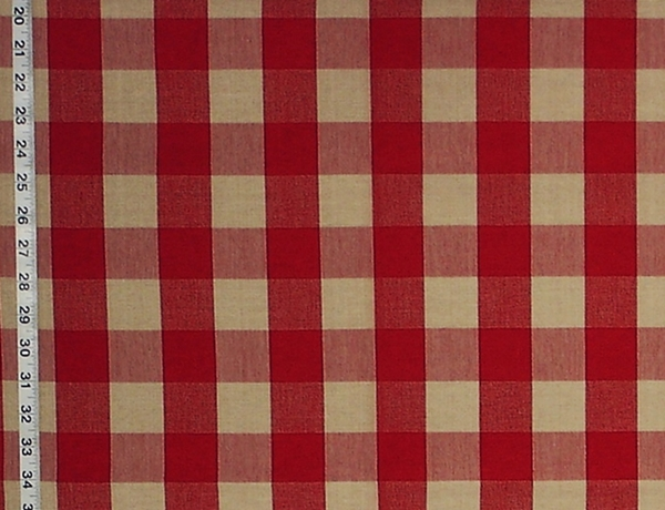 Buffalo Check Fabric Red Tan Rt Lym Dl20 Berry Natural