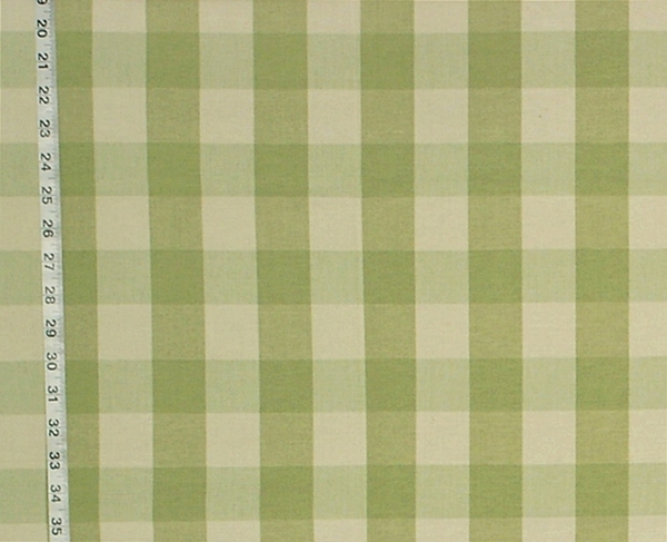 LIGHT SAGE GREEN BUFFALO CHECK FABRIC- SAGEGRASS