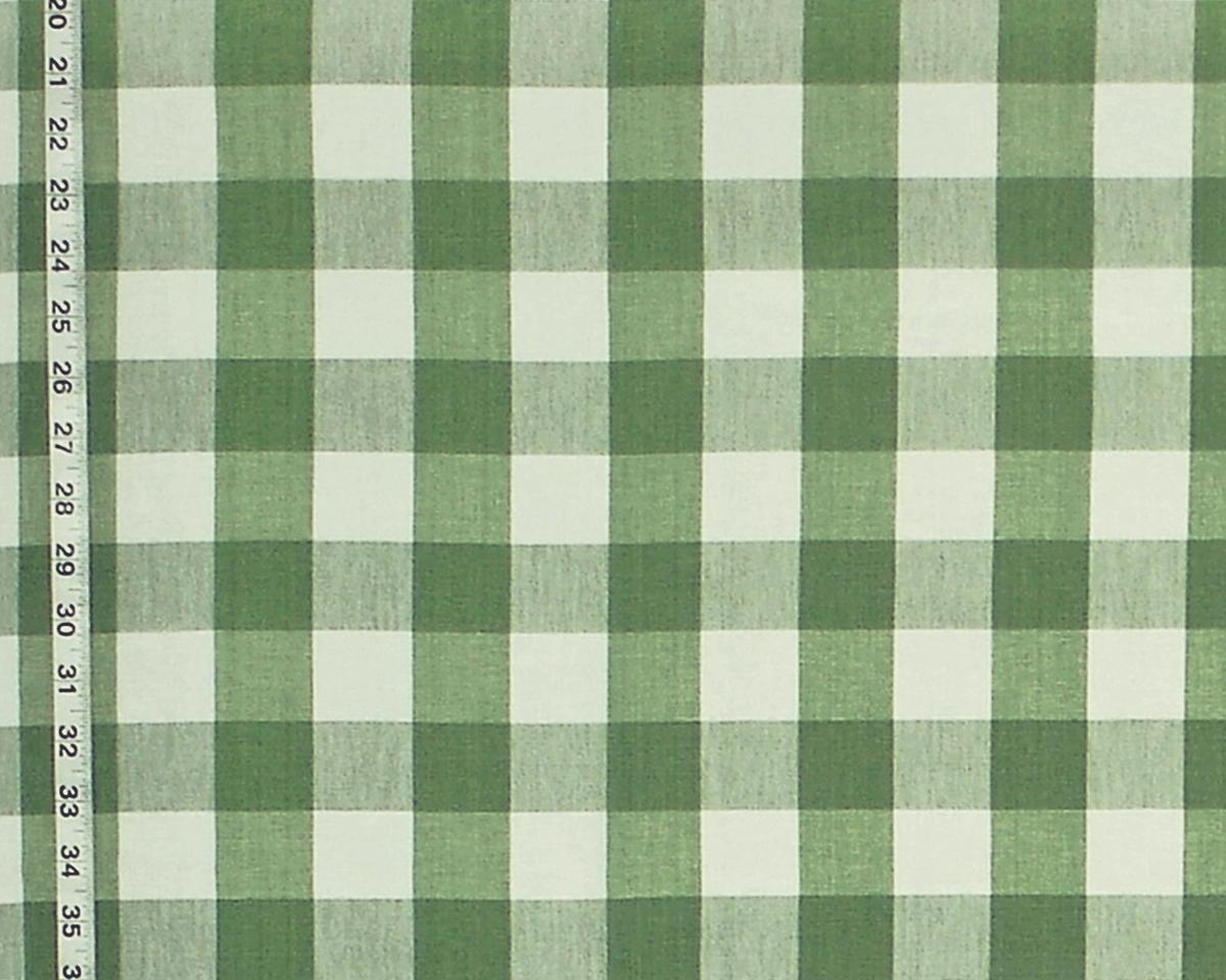GREEN BUFFALO CHECK FABRIC- SPRING