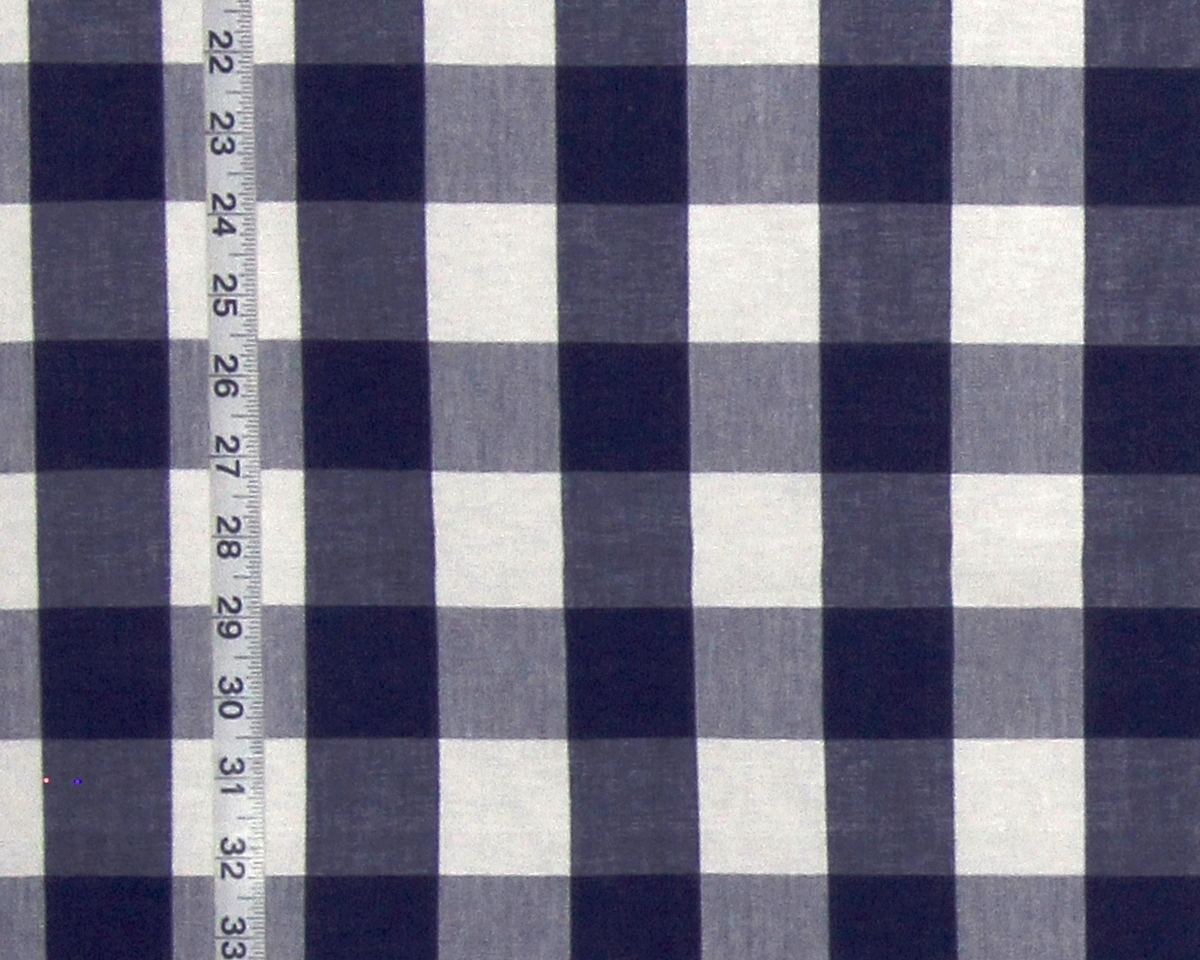INDIGO BLUE BUFFALO CHECK FABRIC