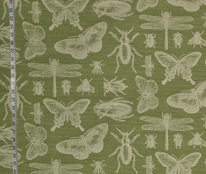 Green Bug Fabric